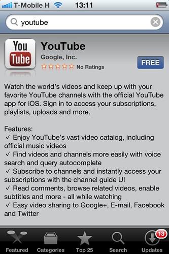 Hivatalos YouTube alkalmazás iOS-re #1
