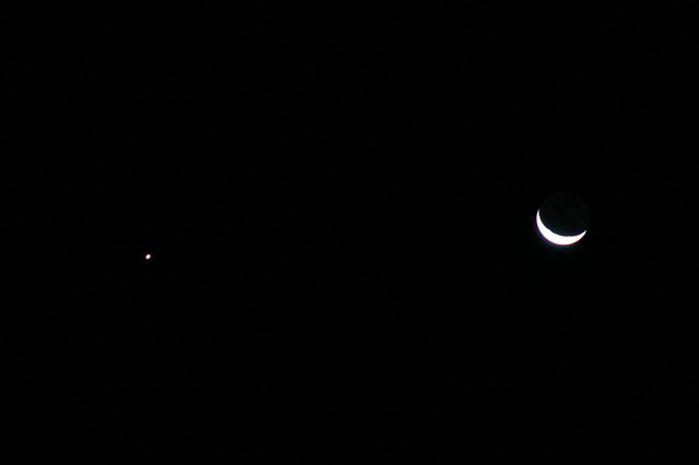Waning Moon and Venus
