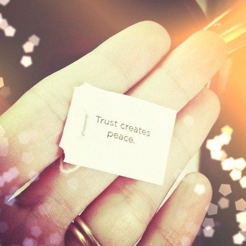 Trust creates peace. Where do you need to lean into trust? #quote #saying #tea