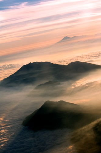 sky bali mountains clouds indonesia java nuvole vulcano