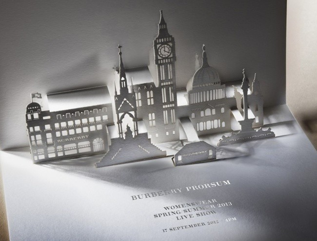 Burberry Prorsum Womenswear SpringSummer 2013 Show Invitation
