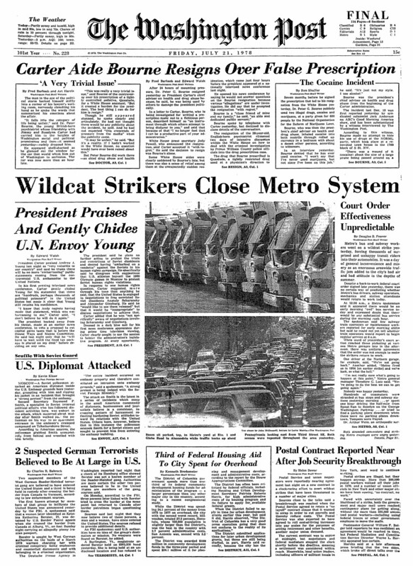 Wildcat Strikers Close Metro System: 1978