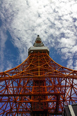 Look up at the Tokyo Tower