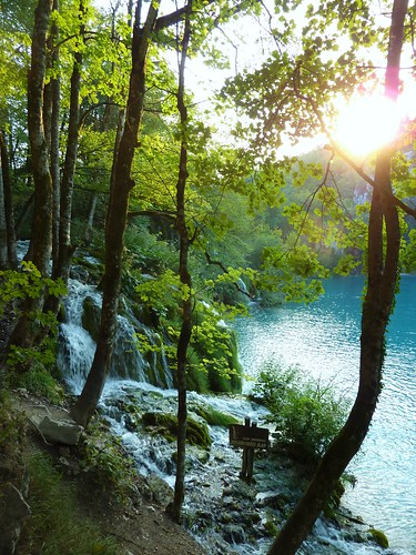 Sunset in Plitvice Lakes National Park