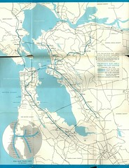 Proposed Bay Area Rapid Transit System, February 1961 Plan