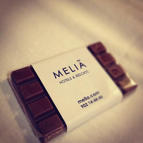 Hacía siglos q no me recibían en un hotel con chocolate!! Yuhuuuuuu cc @taitechu @msconcu by rutroncal