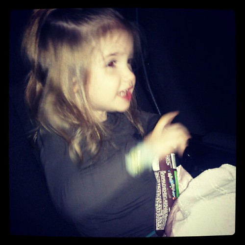 and Austin went to her 1st movie! :)