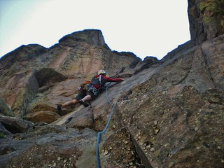 Doug Leading Lovers Leap Crux