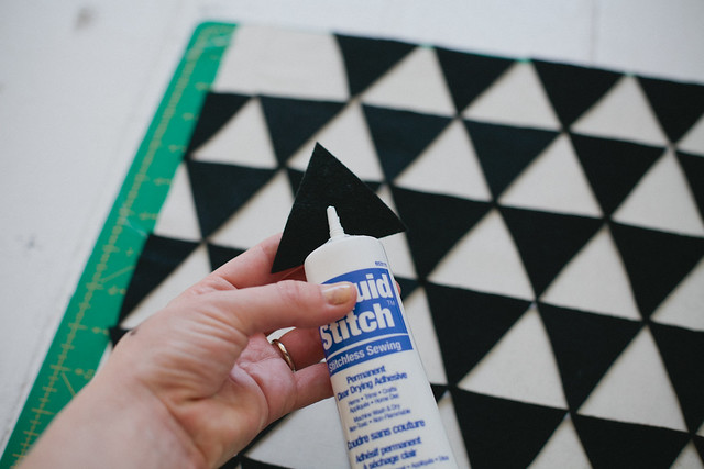 DIY geometric pillow
