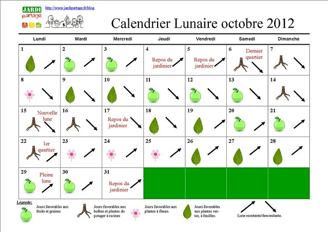 calendrier lunaire du jardinage octobre 2012 flickr photo sharing. Black Bedroom Furniture Sets. Home Design Ideas