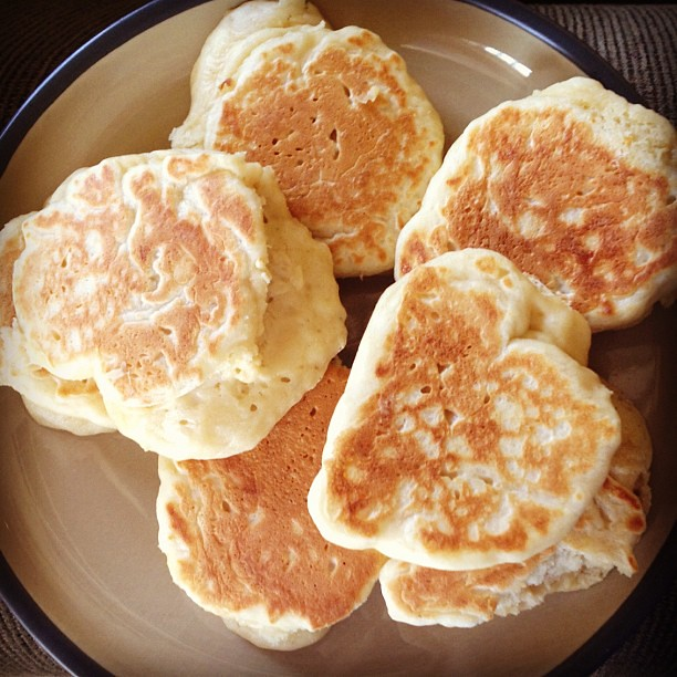 Crumpets for tea time. Studying England for our upcoming trip. :)