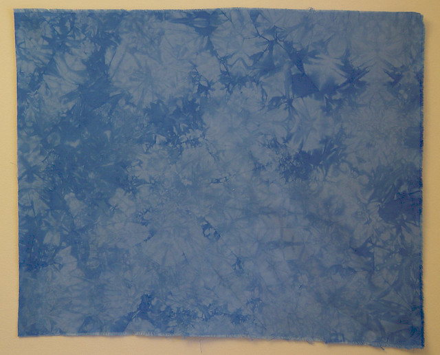 blue dyed fabric