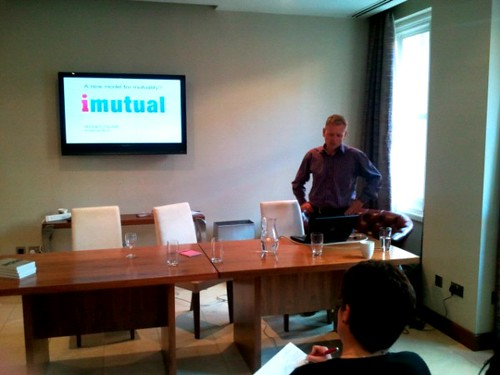 Richard Yendall of imutual's presentation at Write on Finance Blog Up Leeds