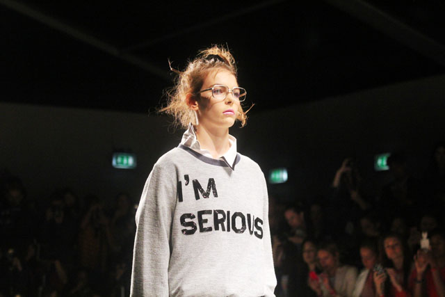 ashish I'm Serious sweater SS13 london fashion week