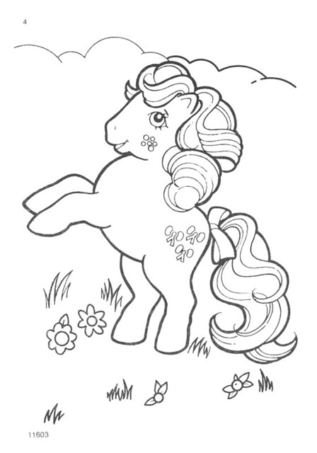 My Little Pony G1 Coloring Pages : My little pony g coloring pages a photo on flickriver