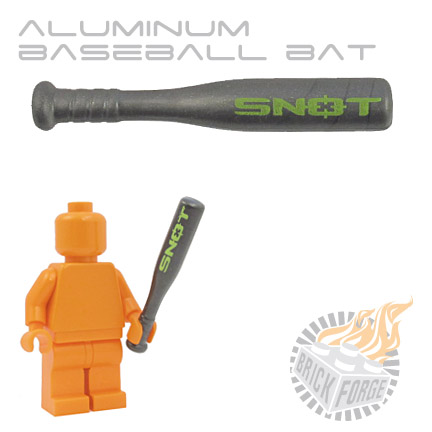 Aluminum Baseball Bat - Steel (Lime SNOT print)