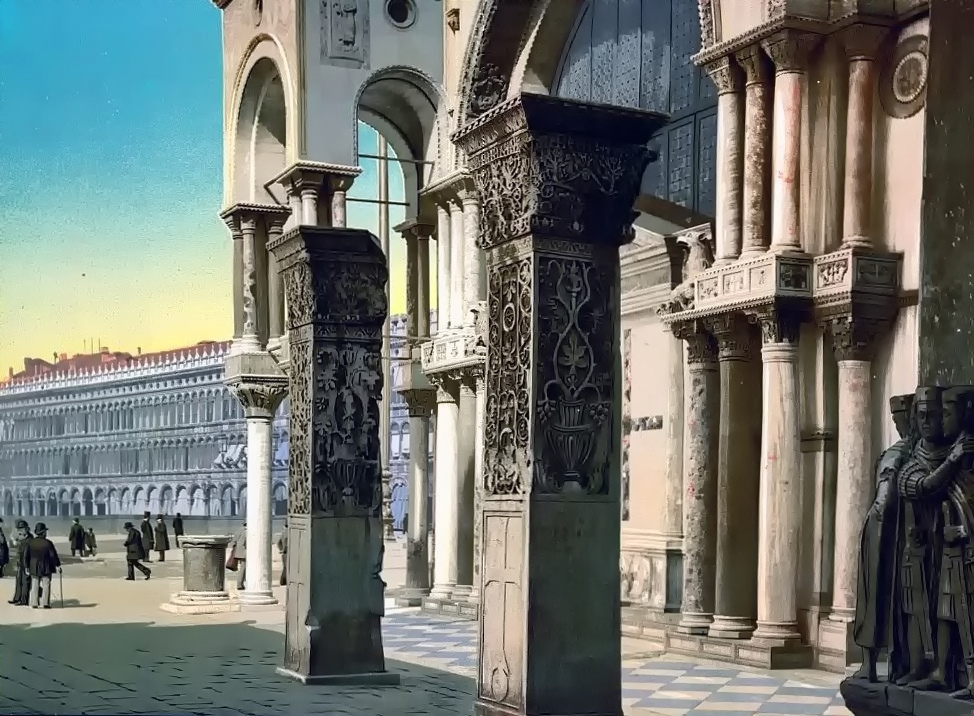 Columns of St. Mark's Church, Venice, Italy