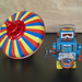 Wind-up robot and Spinning Top