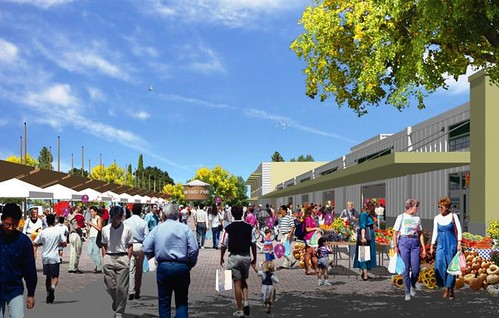 Santa Fe's LEED certified farmers market.  It is equally crucial to create a market that will fit into the existing infrastructure of the community.