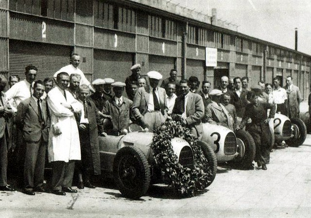 1934 Auto Union Typ A team, Nurburgring