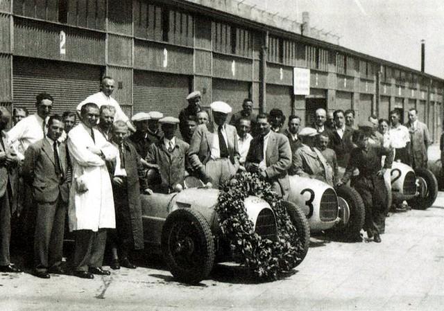 1934 Auto Union Typ A team, Nurburgring
