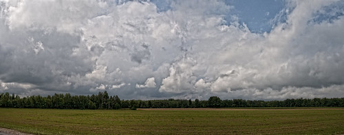 road summer ontario field clouds mississippivalley
