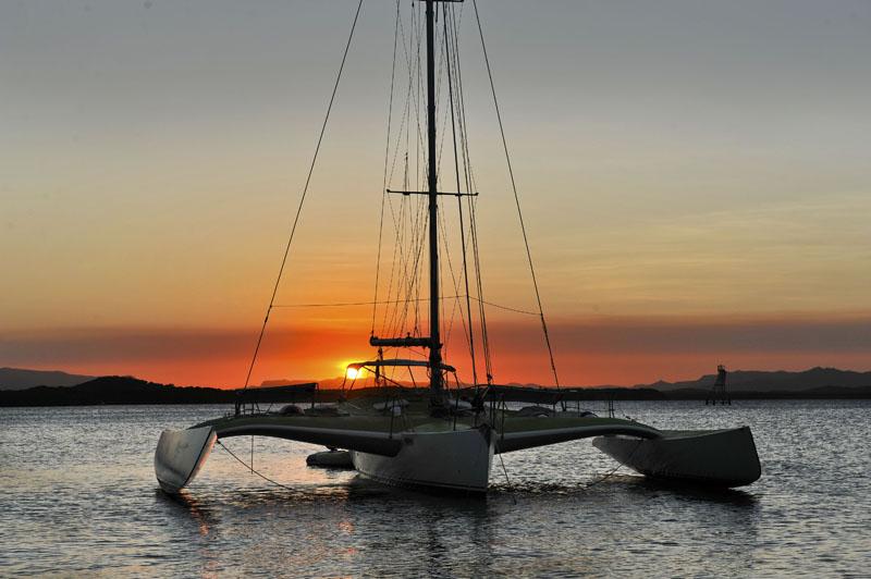 Endeavour river trimaran   sunset at cooktown   rob jeff