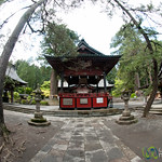 Fuji Sengen Shrine in Fisheye - Mount Fuji, Japan