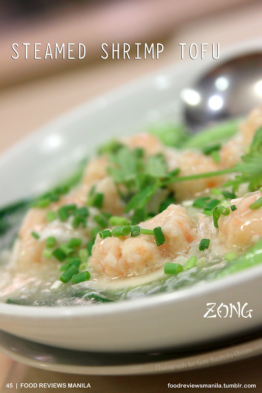 Steamed Shrimp Tofu from Zong