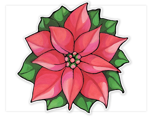 Poinsettia flower another pattern this is just one of