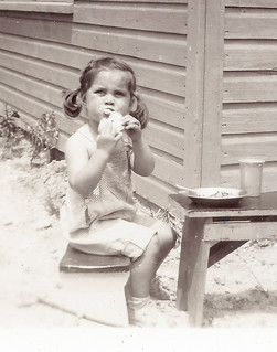 My Sister Eileen, Eating Lunch in Sag Harbor, Long Island, New York about 1951