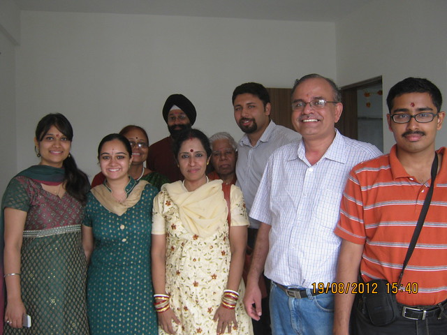 Sunil & Harneet with their relatives - Visit Sparklet - Megapolis Smart Homes 1, Hinjewadi Phase 3, Pune on 19th August 2012