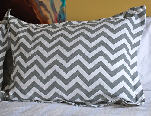 Chevron Bedrom pillow sham
