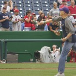 James Carville throws out first pitch