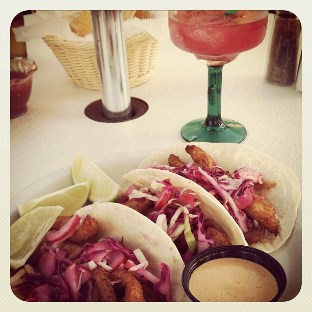 Margaritas & fish tacos on the patio FTW!