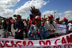 Participação indígena na marcha