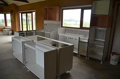Kitchen cabinets arrive