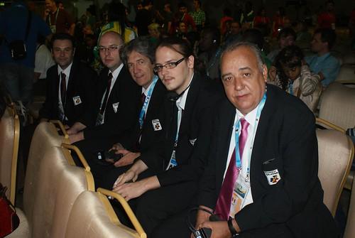 Els membres de la delegació...