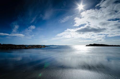 austurland djúpivogur sigma1020 nikond7000 night bigstopper waves sea lensflare longexposure iceland 2012