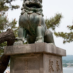 Komainu (Lion Dogs) Guarding Entrance to Shinto Shrine - Miyajima, Japan