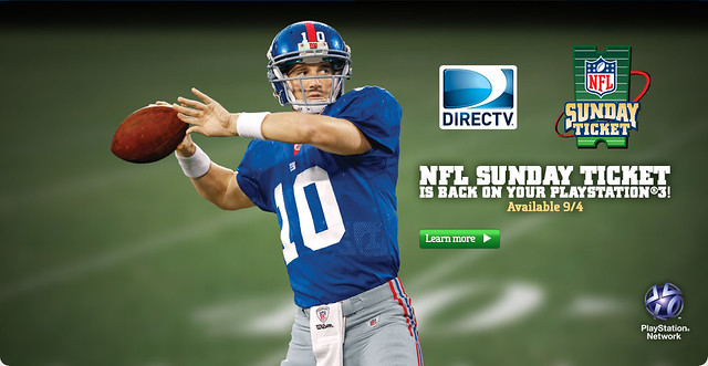 NFL Sunday Ticket on PS3
