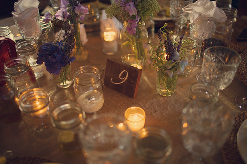 Outdoor Wedding Decorations: Lights