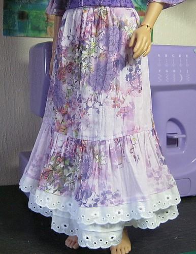 Spoonflower skirt