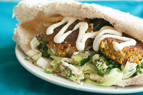 Sweet Potato Falafel Wraps