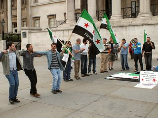 Anti Syrian Government Protest in Trafalgar Square, London