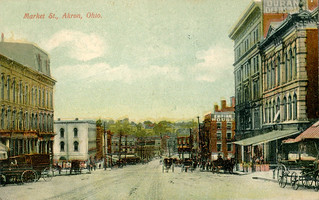 Akron - Market Street (1908 Postcard)
