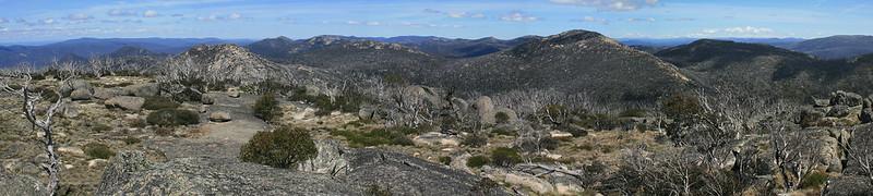 The view from Mount Namadgi - Namadgi National Park - ACT - Australia