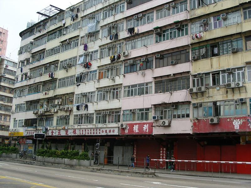 1970s era apartment block