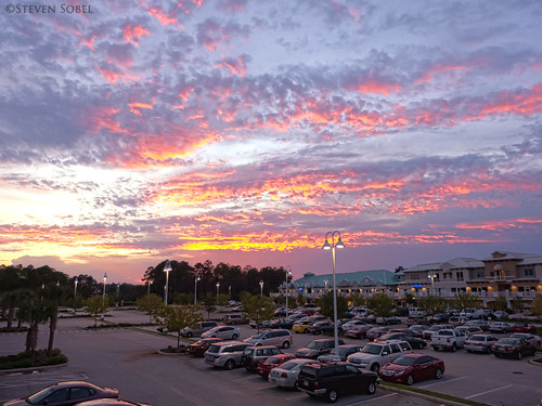 sunset clouds mall landscape colorful florida parking hdr citywalk palmcoast fz150