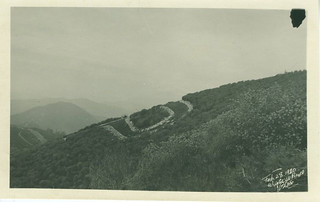 "The Pomona ""P"" in 1920 - It was built in Palmer Canyon in 1912 and maintained by students"